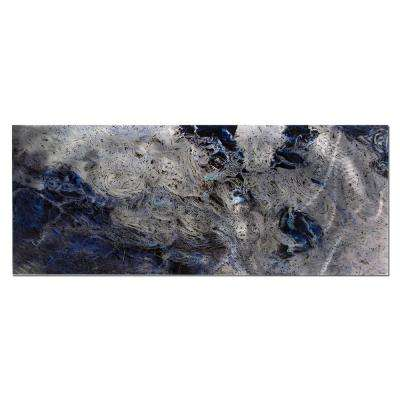 Brevium 19 in. x 48 in. Storm Color Metal Wall Art