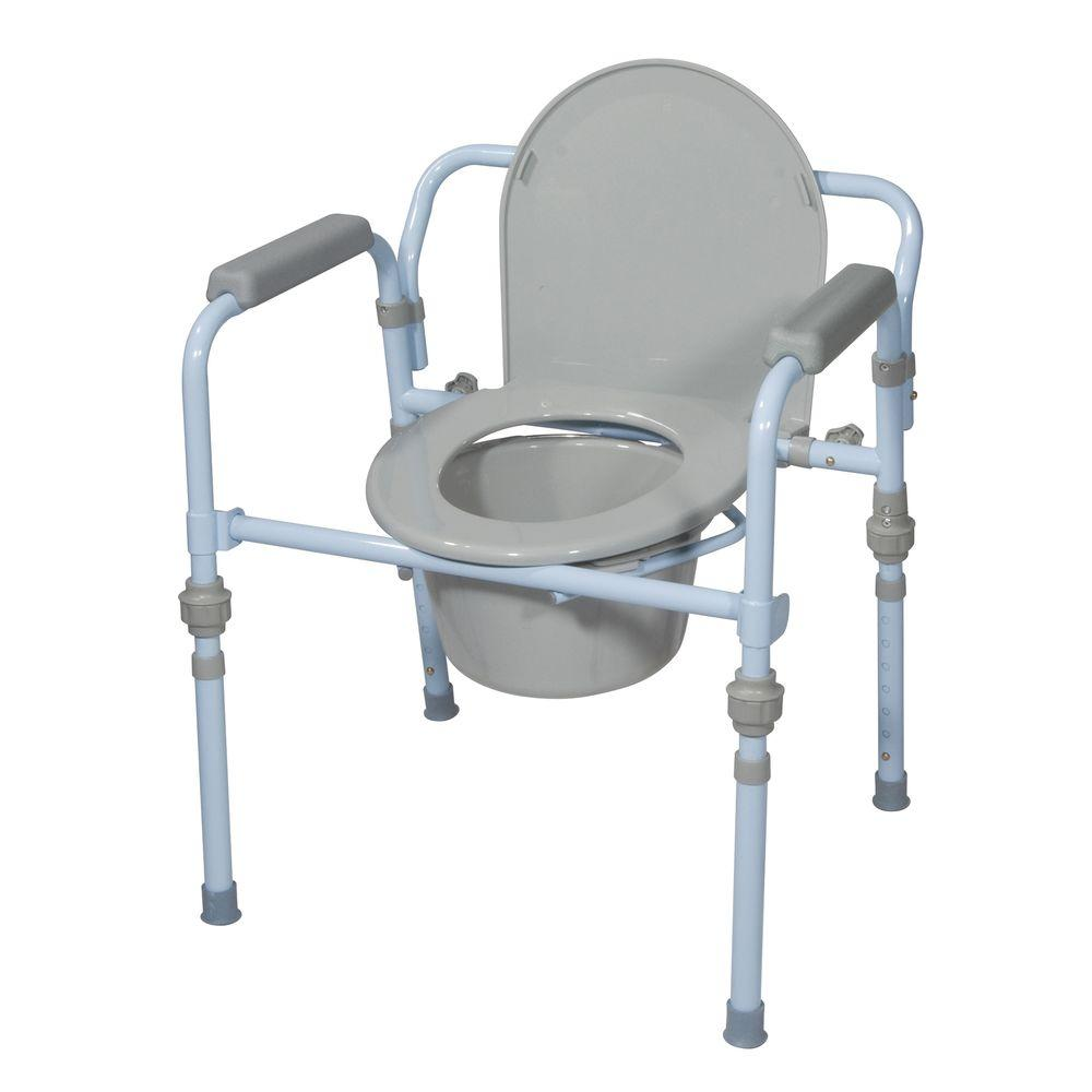 Drive Folding Bedside Commode with Bucket and Splash Guard ...
