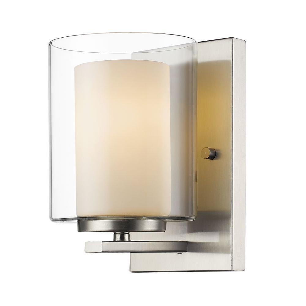 Wesson 1-Light Brushed Nickel Sconce