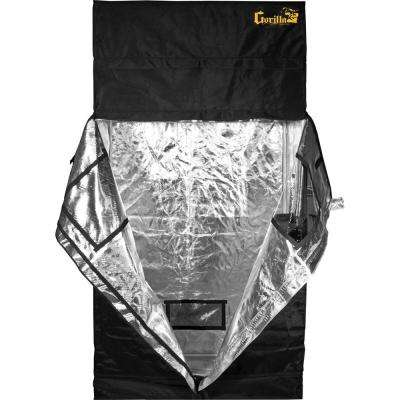 2 ft. x 4 ft. x 7 ft. Heavy Duty Black Grow Tent