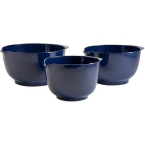 Hutzler 2, 3 and 4 l Melamine Mixing Bowl Set in Cobalt Blue (Set of 3) by Hutzler