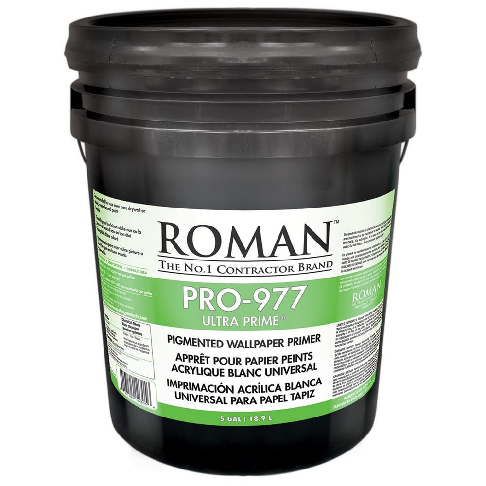 Roman PRO-977 Ultra Prime 5 gal. Interior and Exterior Wallcovering Primer/Sealer