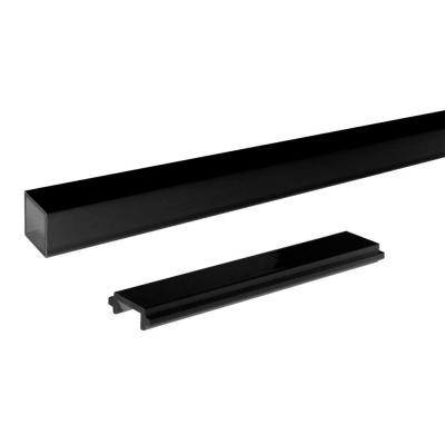 6 ft. Black Aluminum Picket and Spacer Set
