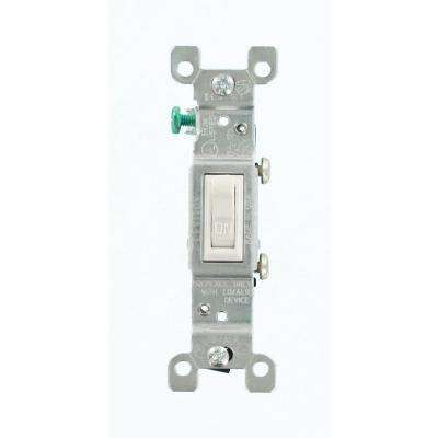 15 Amp CO/ALR AC Quiet Toggle Switch, White
