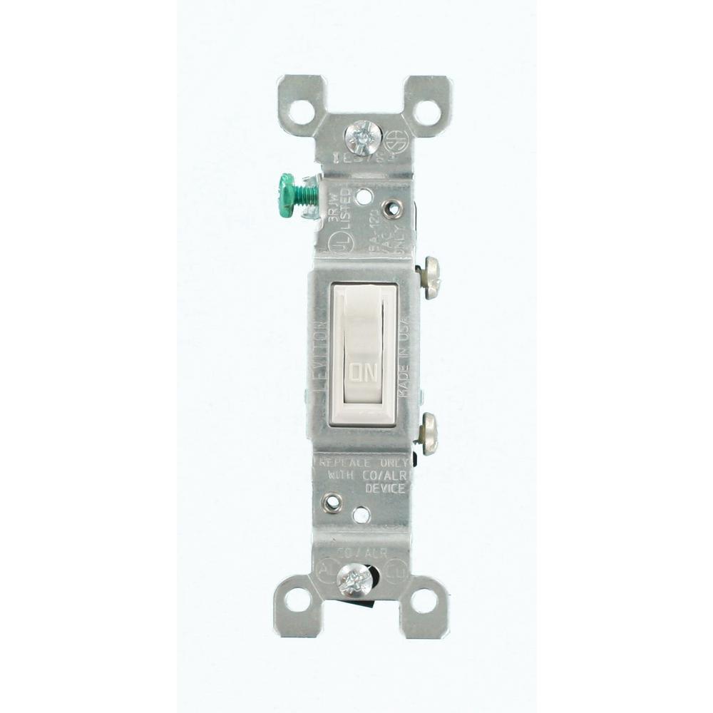 Leviton 15 Amp CO/ALR AC Quiet Toggle Switch, White
