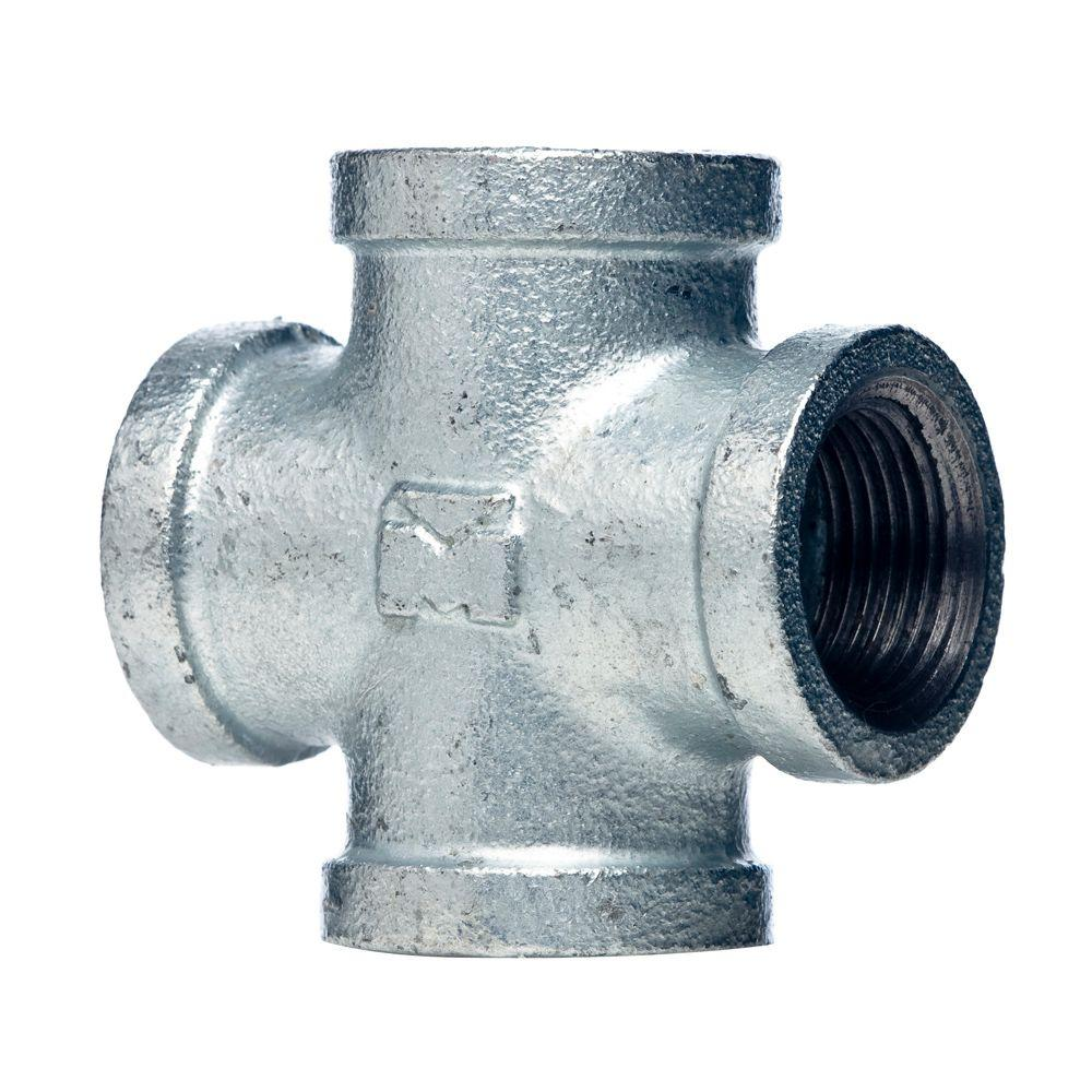 null 12 in galvanized malleable iron fpt cross