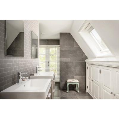 Canvas Glass Taupe 3 in. x 6 in. Subway Glossy Glass Wall Tile (1 sq. ft./Pack)