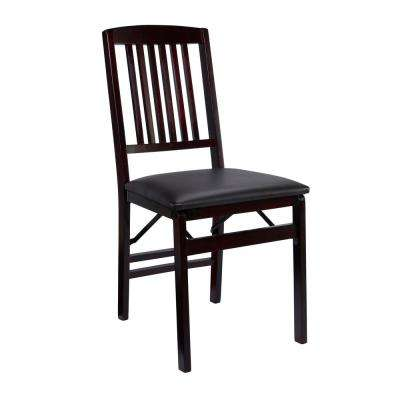 Trista Mission Back Dark Brown Folding Chairs (Set of 2)