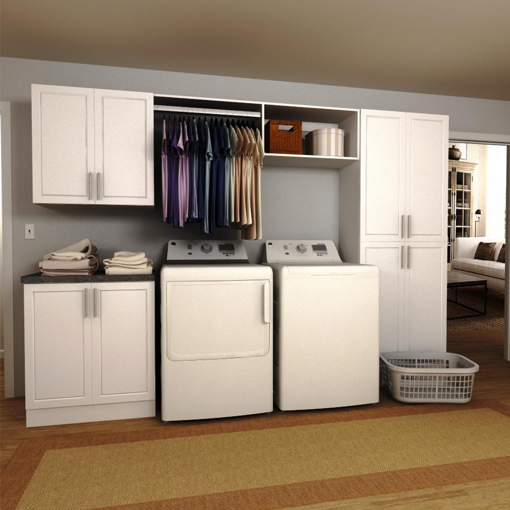 Design Laundry Room Cabinets laundry room cabinets storage the home depot madison 120 in w white hanging rod cabinet kit