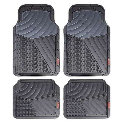 Gray All Weather 4-Piece 28.5 in. x 18.5 in. Journeyman Class PVC Car Mat