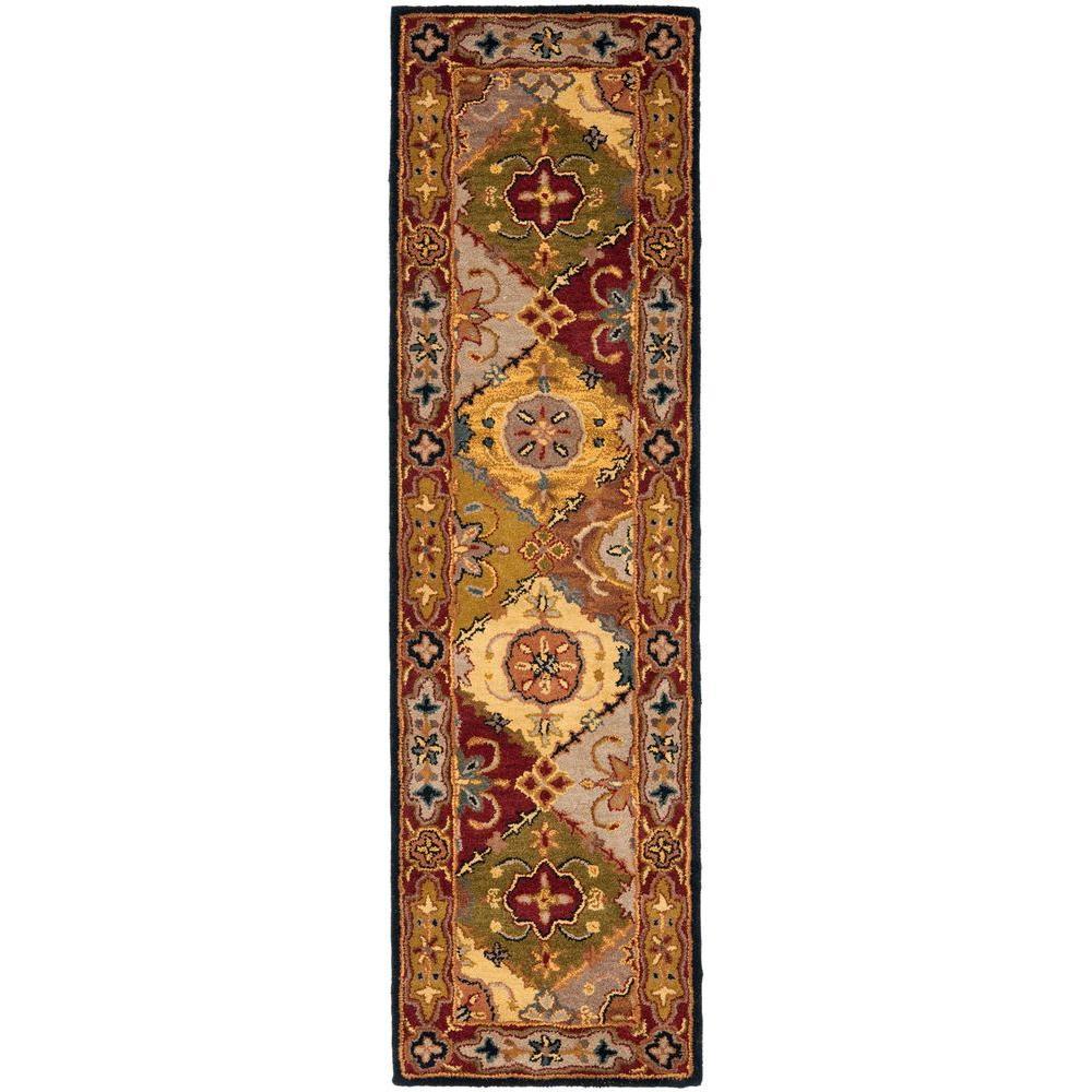 Safavieh Heritage Multi/Red 2 ft. x 18 ft. Runner Rug