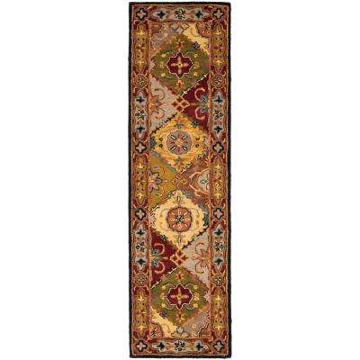 Heritage Multi/Red 2 ft. x 18 ft. Runner Rug