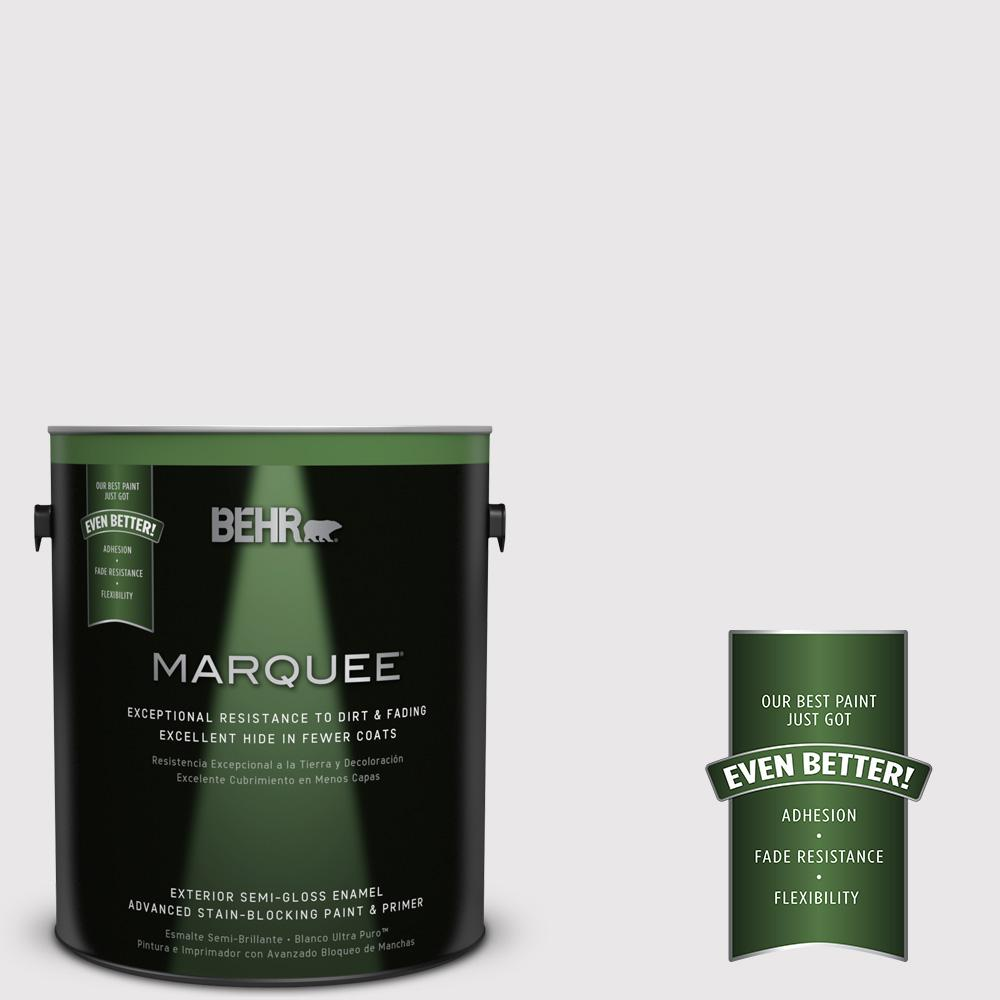 BEHR MARQUEE 1-gal. #PR-W3 Melodic White Semi-Gloss Enamel Exterior Paint
