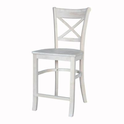Charlotte Unfinished Wood 24 in. Counter Stool