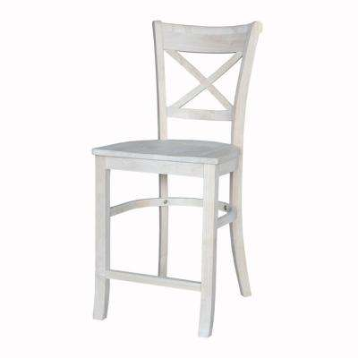 Charlotte 24 in. Unfinished Wood Bar Stool