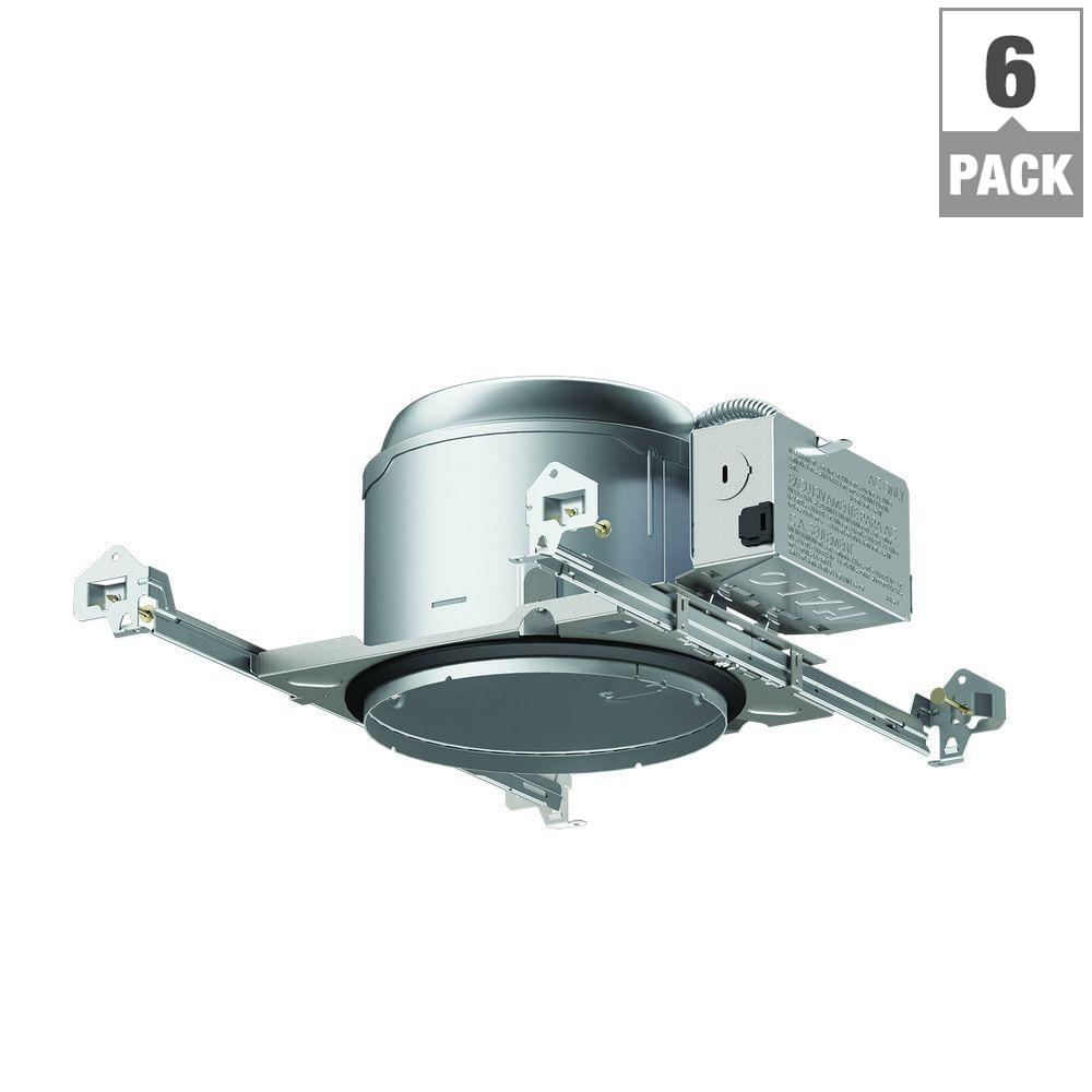E26 Series 6 in. Aluminum Recessed Lighting Shallow New Construction IC