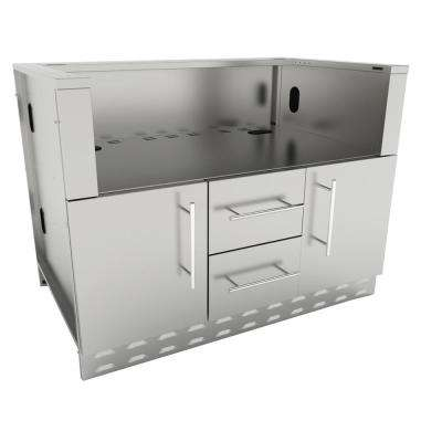 Designer Series 304 Stainless Steel 46 in. x 34.5 in. x 28.25 in. Drop in Charcoal Grill Base Cabinet