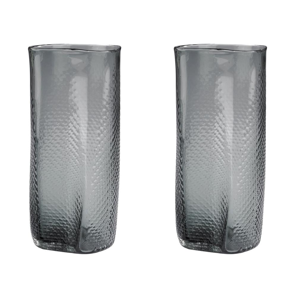 Home decorators collection perched bird glass and metal decorative glass decorative vases in gray set of floridaeventfo Image collections