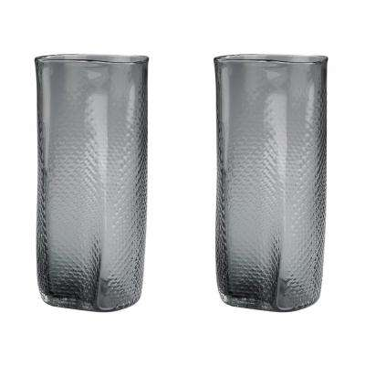 Fish Net 13 in. Glass Decorative Vases in Gray (Set of 2)