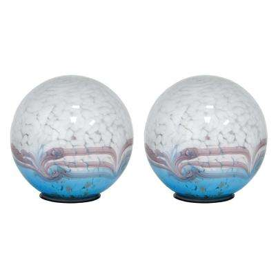 5 in. Art Glass Solar Gazing Ball, Horizon (2-Pack)