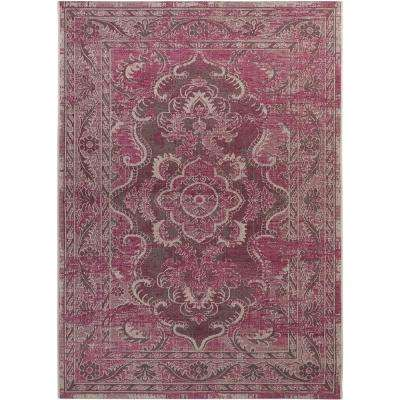 Palazzo Gray/Purple 8 ft. x 11 ft. Area Rug