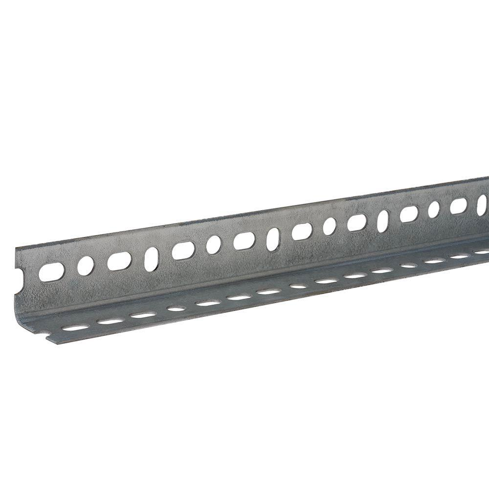 Everbilt 1-1/2 in. x 14-Gauge x 72 in. Zinc-Plated Slotted Angle