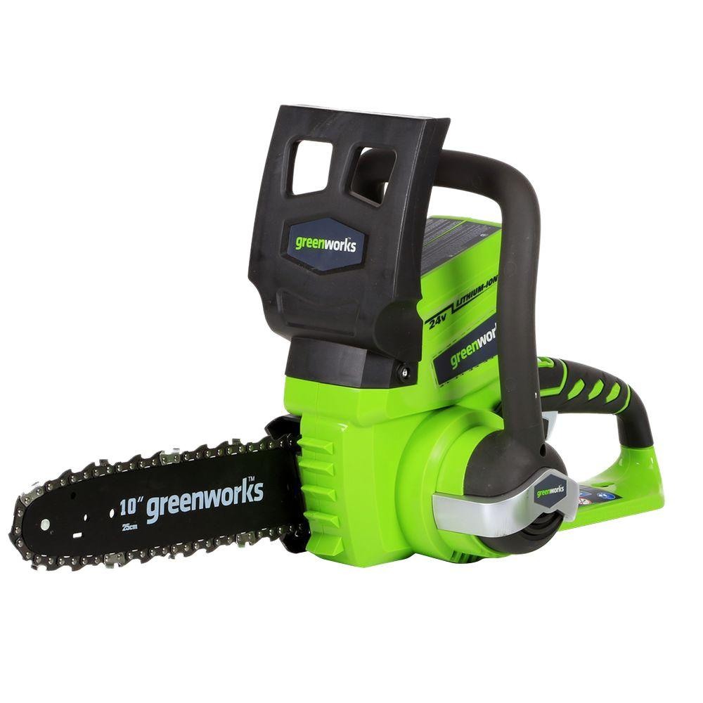 10 in. 24-Volt Cordless Chainsaw - Battery and Charger Not Included