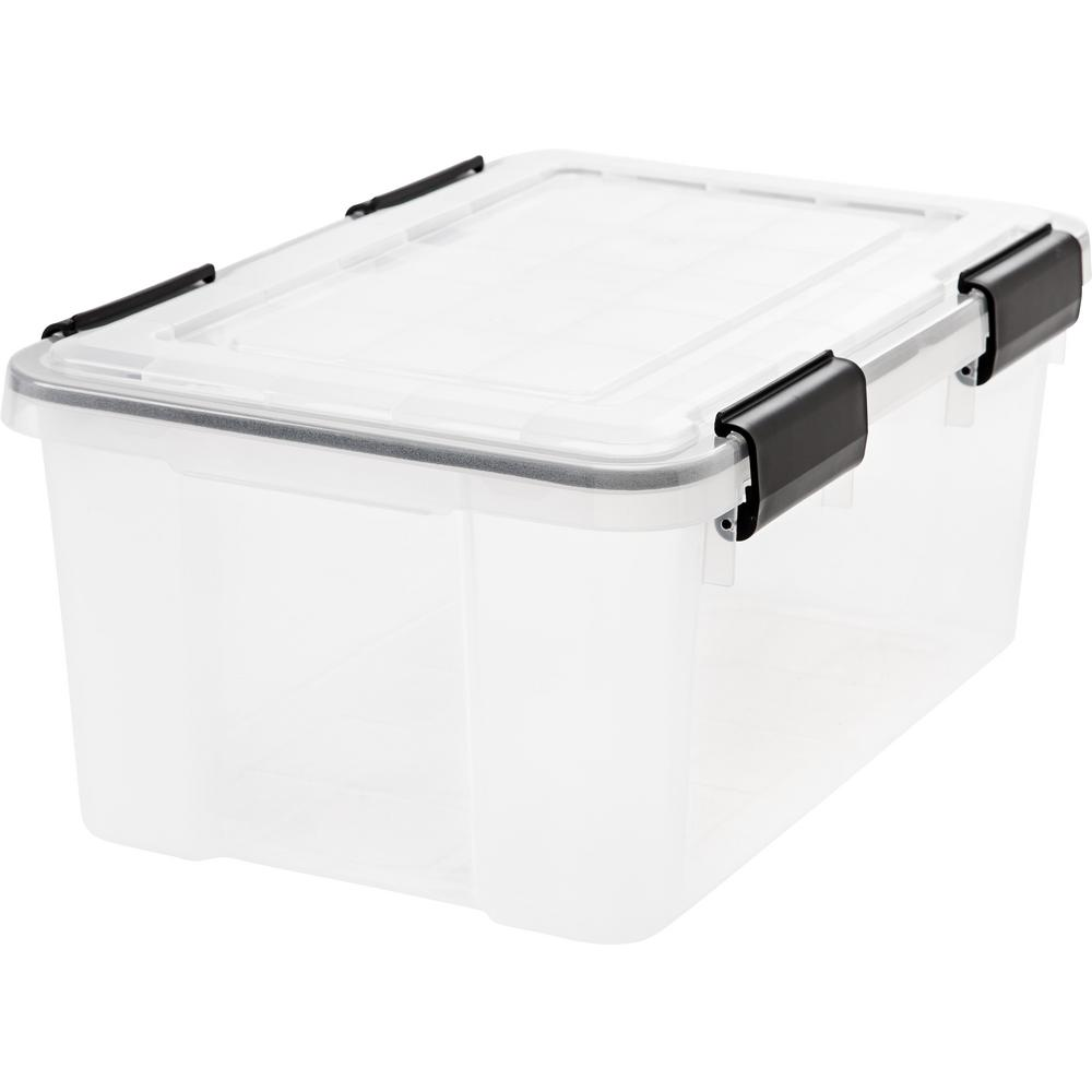IRIS 19 Qt. Weather Tight Storage Box in Clear