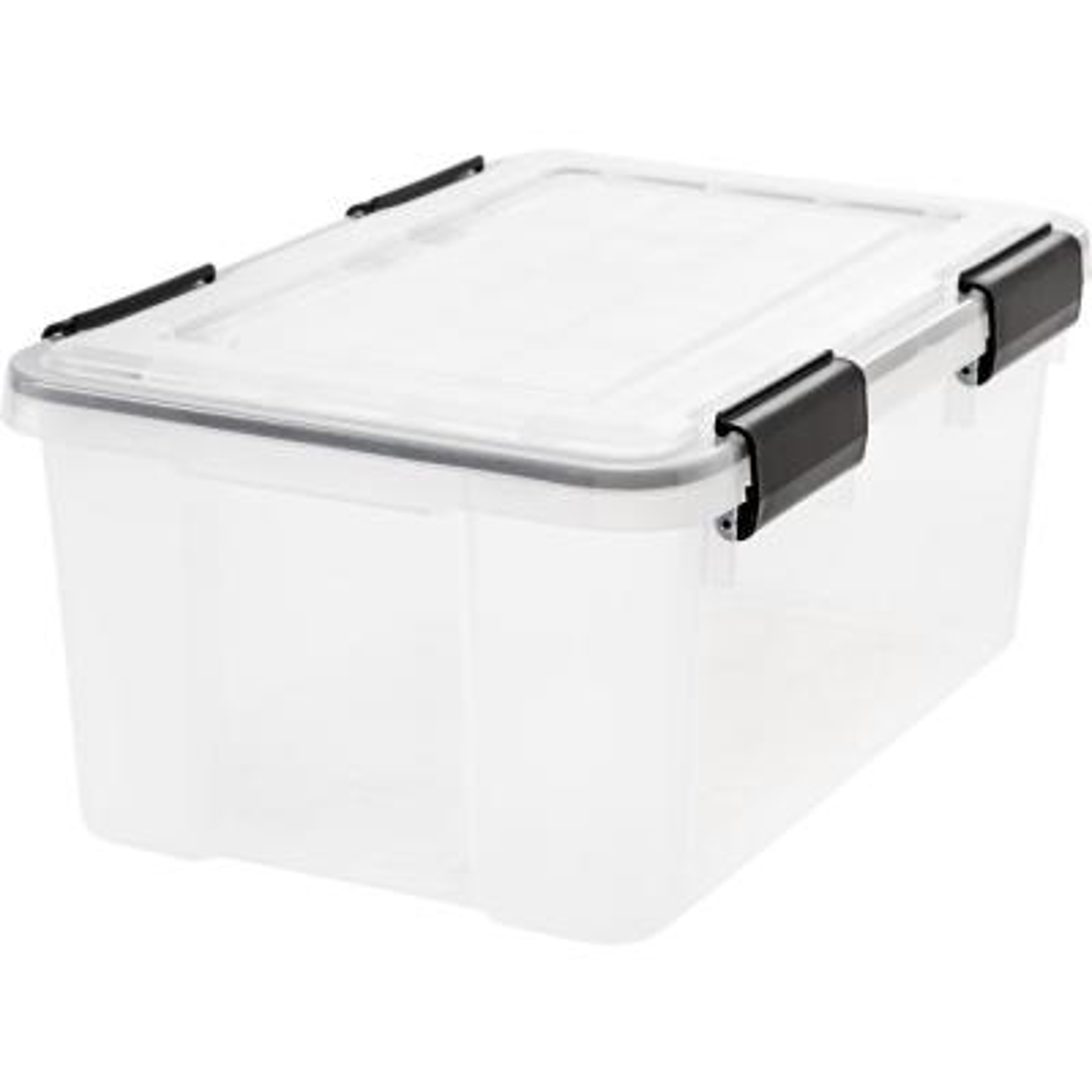 19 Qt. Weather Tight Storage Box in Clear