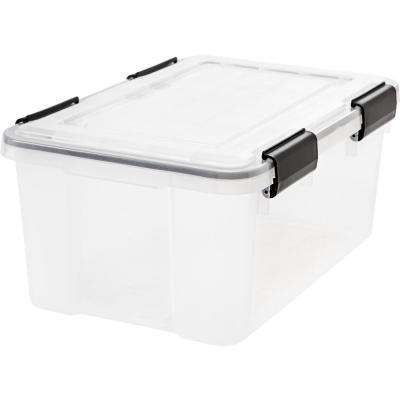 19 Qt. Weather Tight Storage Box in Clear