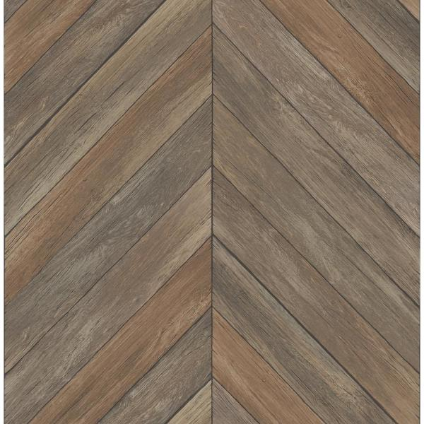 A-Street Parisian Brown Parquet Wallpaper Sample 2540-24006SAM
