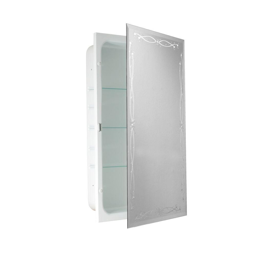 Deco Mirror 16 in. x 26 in. Recessed Classic Venetian Medicine Cabinet-DISCONTINUED
