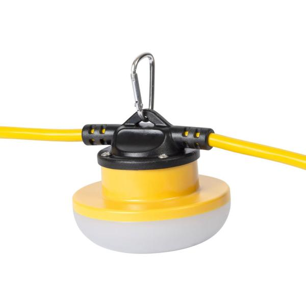 100 ft. 15 Amp 18/2 SJTW Temporary Work Light Stringer with 10 Integrated LED Lights Included