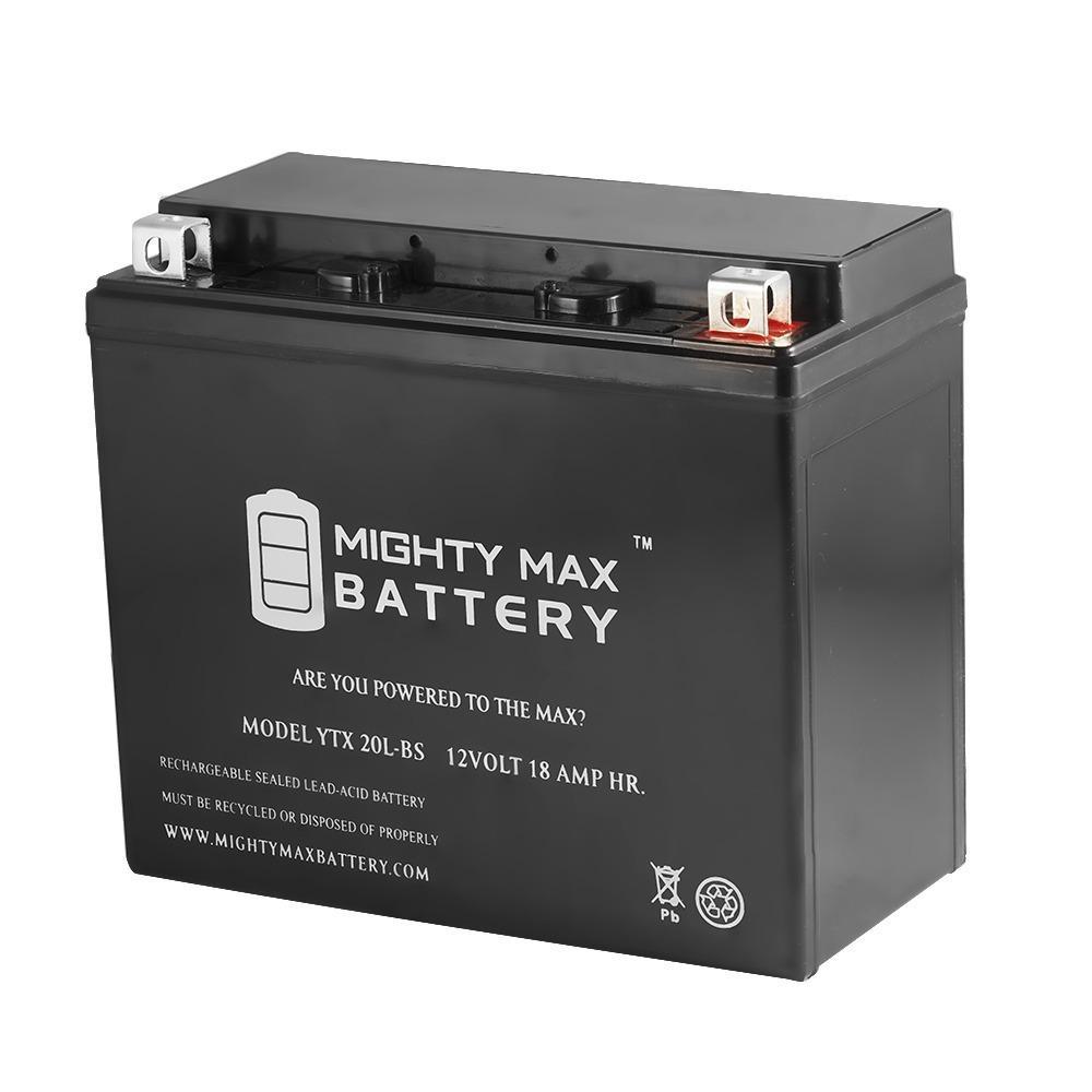 12-Volt 18 Ah 270 CCA Rechargeable Sealed Lead Acid (SLA) Powersport Battery