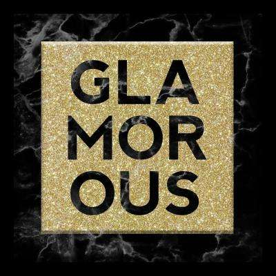 Glamorous-Black Marble 10 in. x 10 in. Shadowbox Wall Art