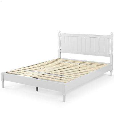 Provence King Platform Bed with Solid Headboard