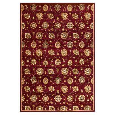 Classic Panel Tabriz Red 7 ft. 7 in. x 10 ft. 10 in. Area Rug
