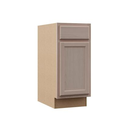 Hampton Assembled 15x34.5x24 in. Base Kitchen Cabinet in Unfinished Beech