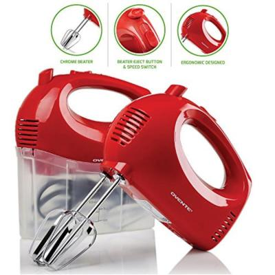 5-Speed Ultra Power Hand Mixer with Free Storage Case, Red