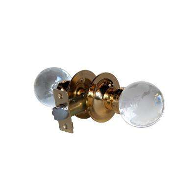 Globe Crystal Brass Passive Door Knob with LED Mixing Lighting Touch Activated