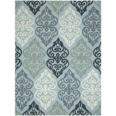 Pizazz Aqua Gray 4 ft. x 6 ft. Rectangle Area Rug