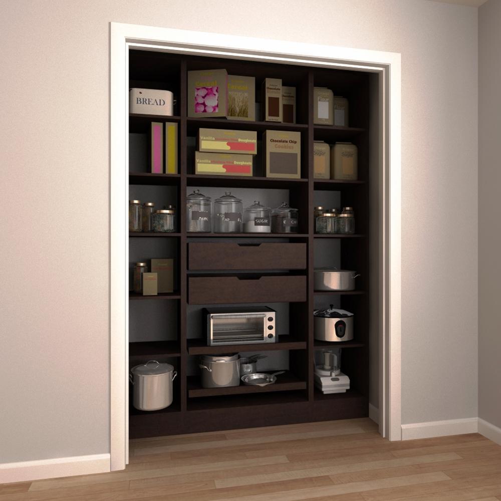 Modifi Madison 60 In. W Mocha Open Shelves Laundry Cabinet