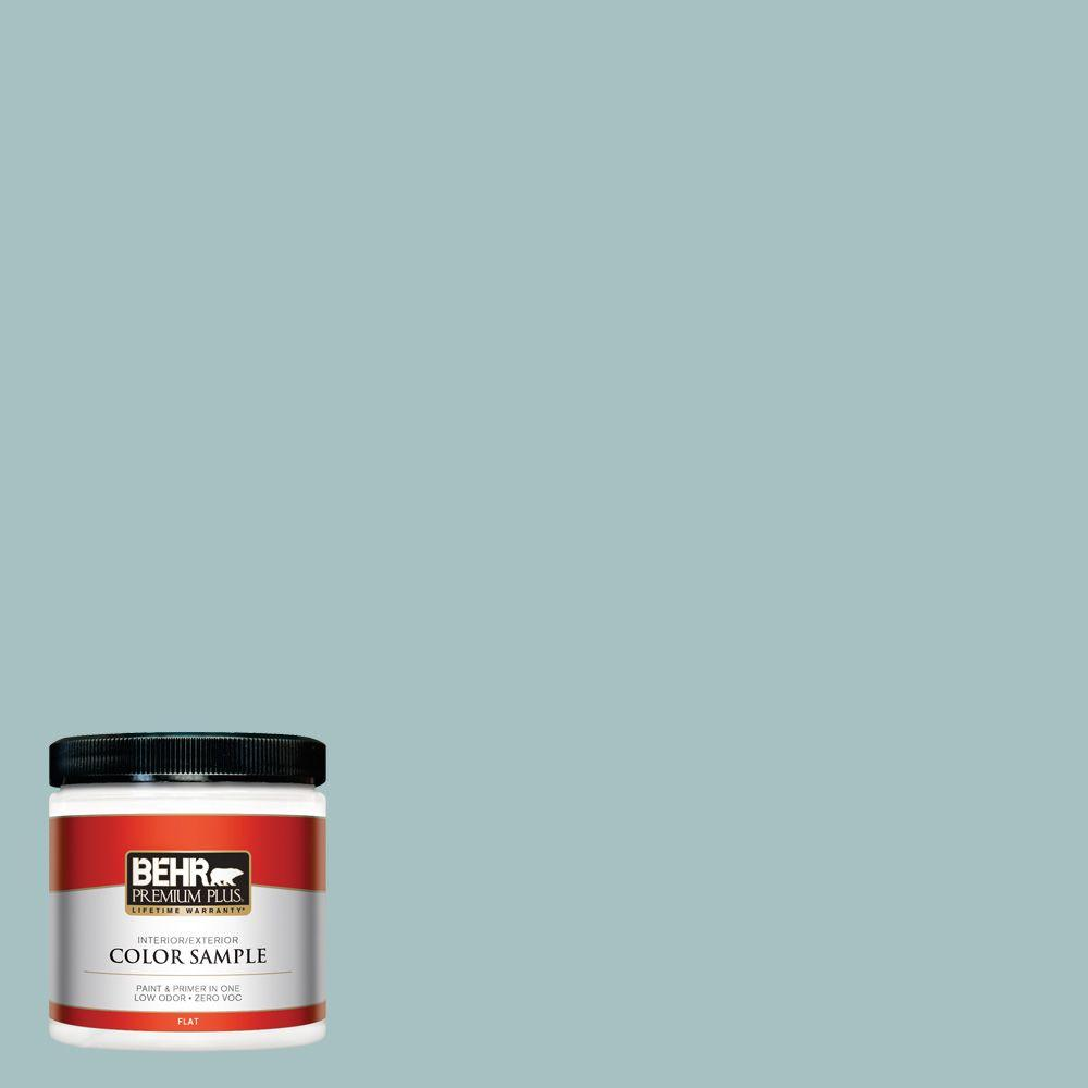 8 oz. #500F-4 Swan Sea Interior/Exterior Paint Sample