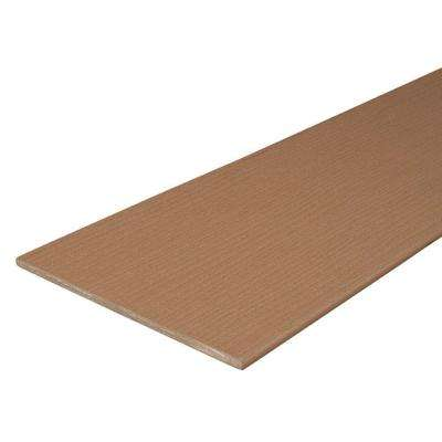 Paramount 1/2 in. x 11-1/2 in. x 12 ft. Capped Cellular Brown PVC Fascia Decking Board