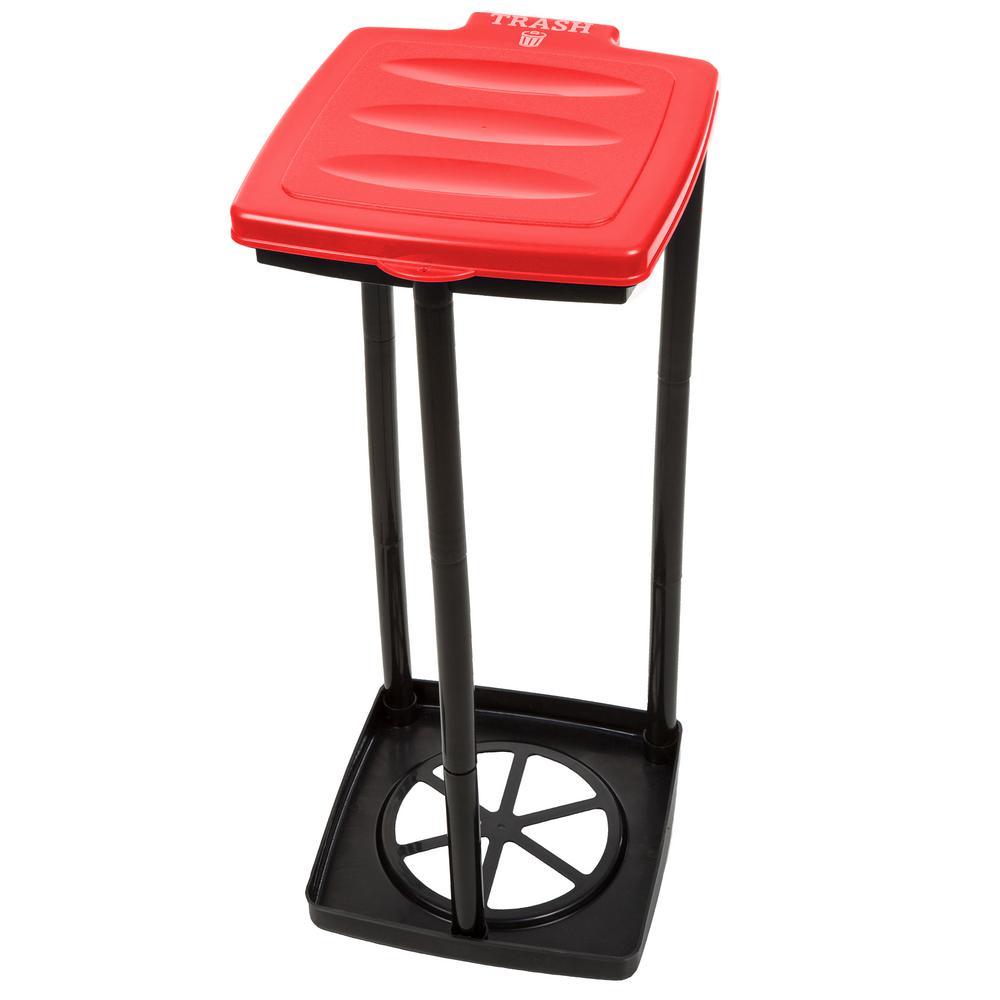 Red Portable Garbage Trash Bag Holder