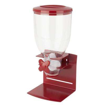 Pro Edition Single Dry Food Dispenser in Red