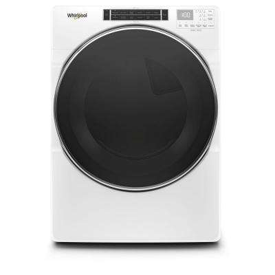 7.4 cu. ft. 120-Volt White Stackable Gas Vented Dryer with Steam and Intuitive Touch Controls, ENERGY STAR