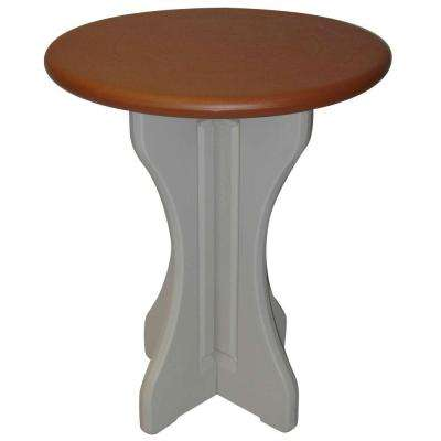 Redwood 30 in. Resin Patio Bistro Table