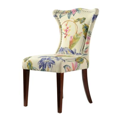 Paradise Off-White/Floral Upholstered Accent Chair