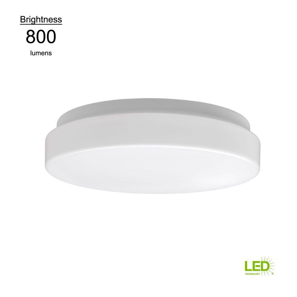 led flush mount fixture residential commercial electric low profile in white 60 watt equivalent round integrated led flushmount